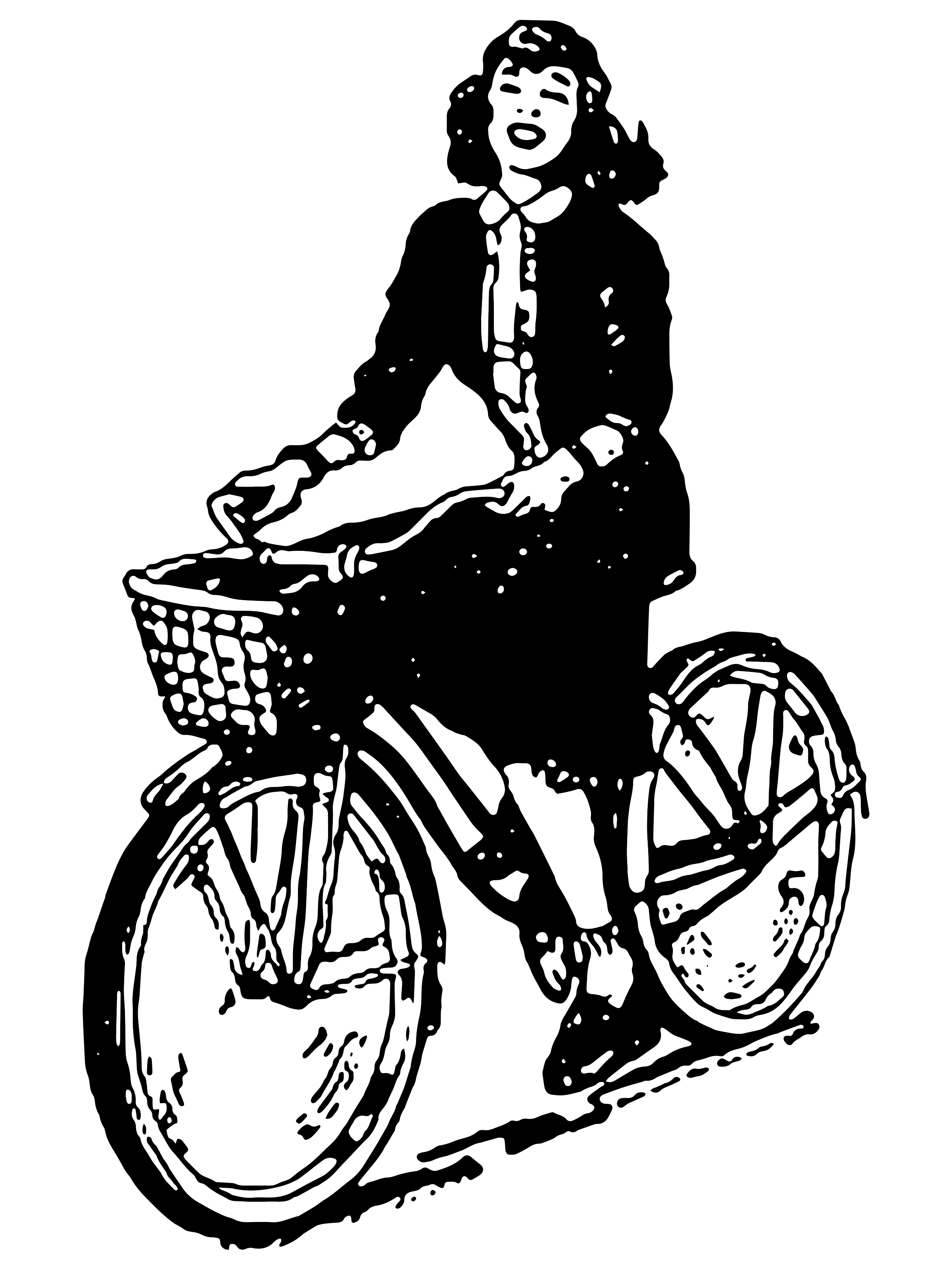 0353 – Lady on her Bicycle
