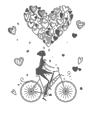 0587 – Bicycle Heart Girl